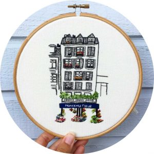 Flower Shop in Paris Embroidery Pattern
