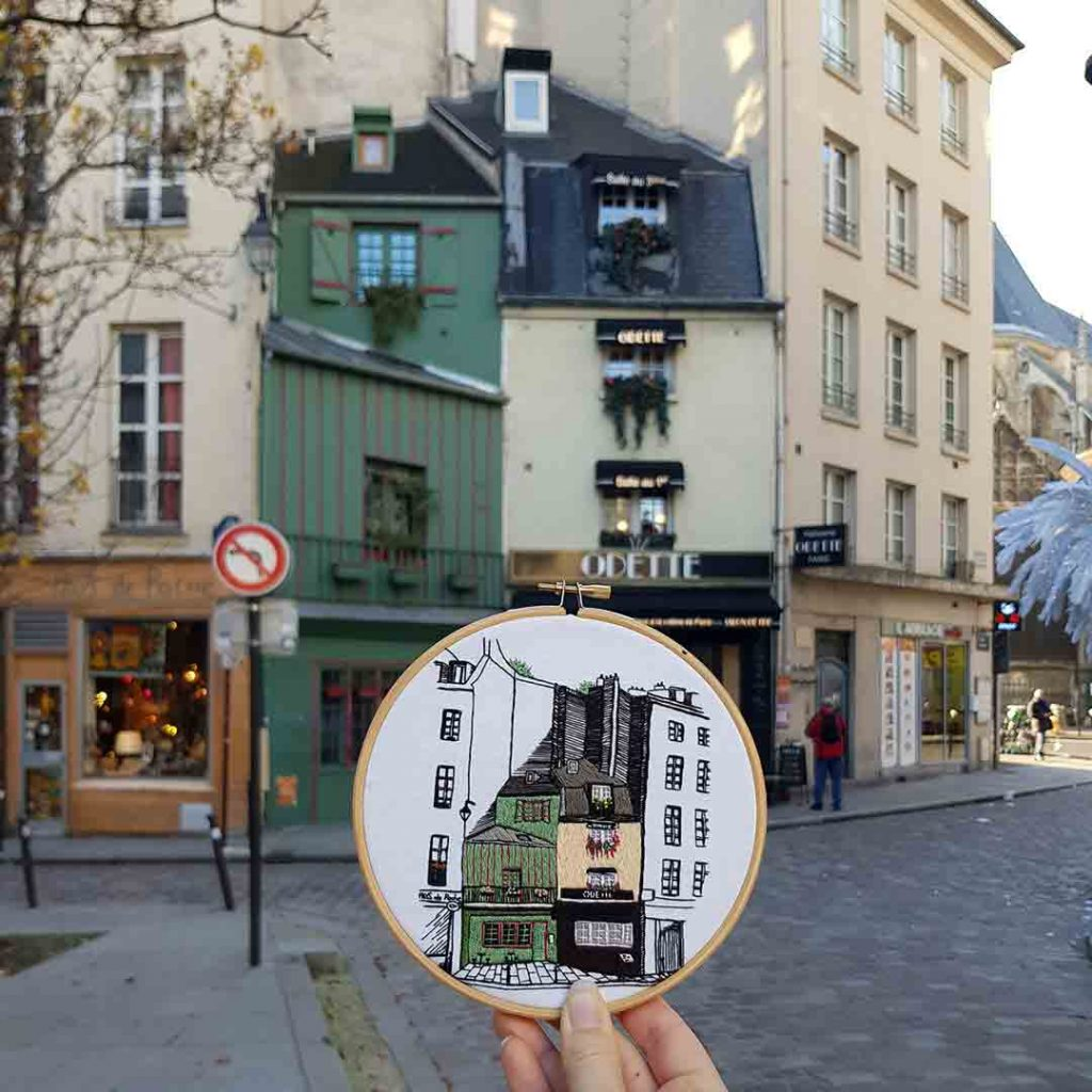 Free Embroidery Pattern Rue Galande Paris