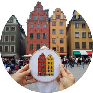Gamla Stan Stockholm Embroidery Design
