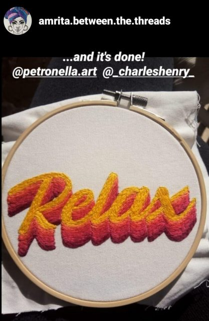 Relax Embroidery