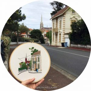 Street of Arcachon Embroidery Design