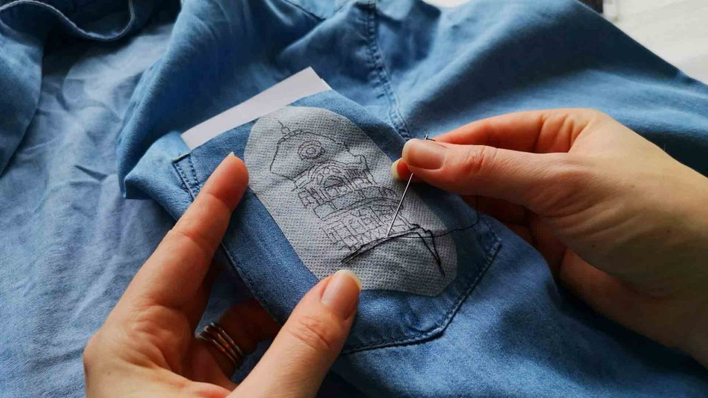 Upcycle-your-denim-shirt-with-hand-embroidery