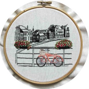 Amsterdam View Embroidery Design