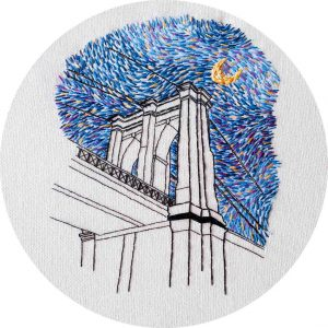 Brooklyn Bridge Embroidery Pattern