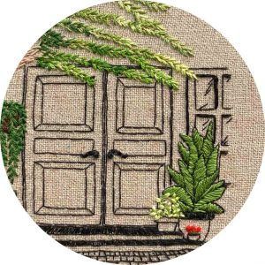 Charming-Spanish-Door-Embroidery-CloseUp