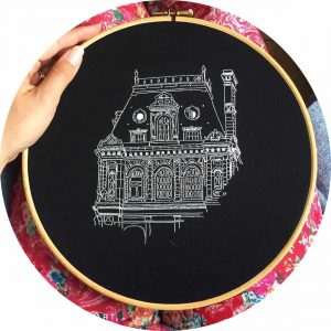 City Hall Paris Embroidery Design