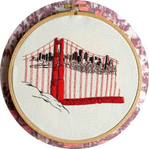 Golden Gate Bridge Embroidery