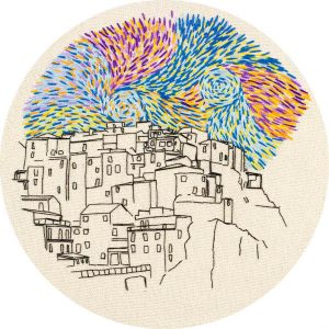 Manarola Embroidery Design