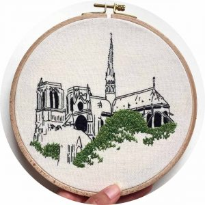 Notre Dame de Paris Embroidery Design