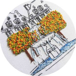 Place des Vosges Embroidery Close Up