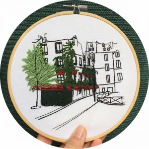 Restaurant Le Marais Embroidery Design