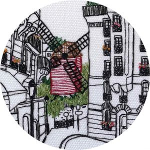 Rue Lepic Embroidery Close Up