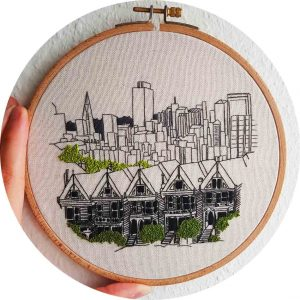 San Francisco Street Embroidery
