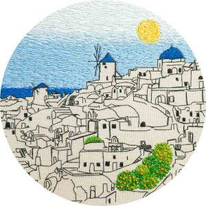 Santorini Embroidery Design