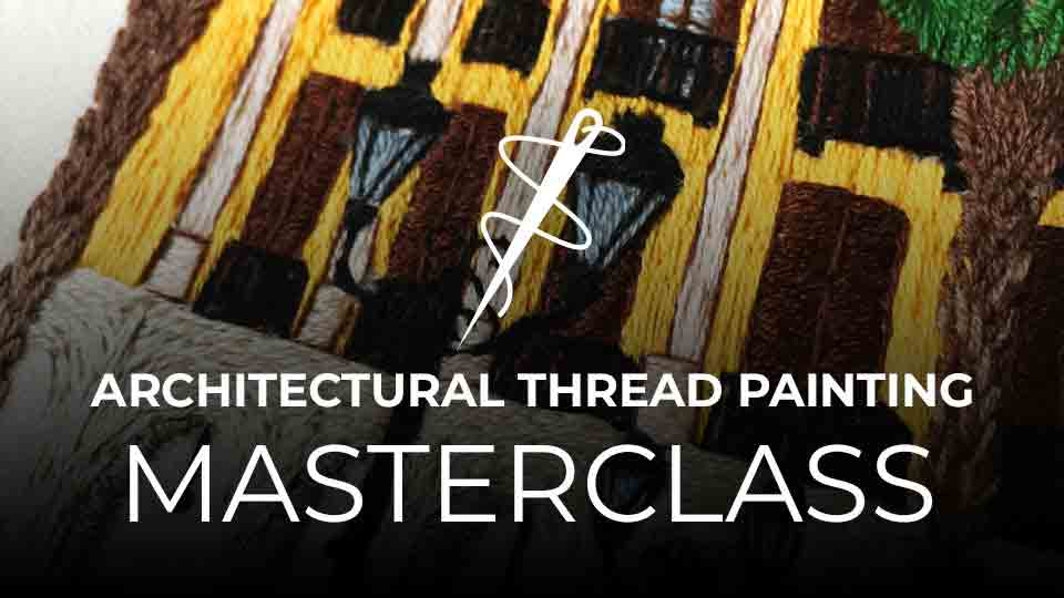 Architectural Thread Painting Charles and Elin Academy