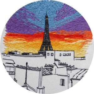 View on Paris Embroidery design