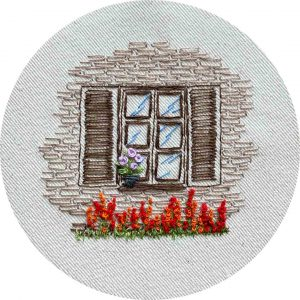 Brick House Window Hand Embroidery Pattern Charles and Elin