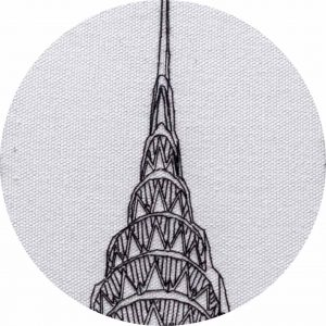 Chrysler-Building-Hand-Embroidery-Design-Closeup-by-Charles-and-Elin