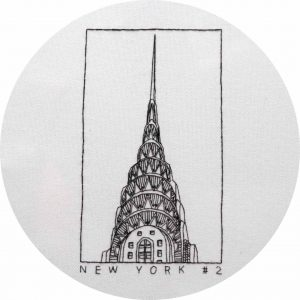 Chrysler Building Hand Embroidery Design by Charles and Elin