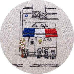 Le Café of Paris - Charles and Elin Hand Embroidery Pattern