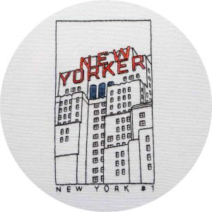 New Yorker Embroidery Pattern Charles and Elin