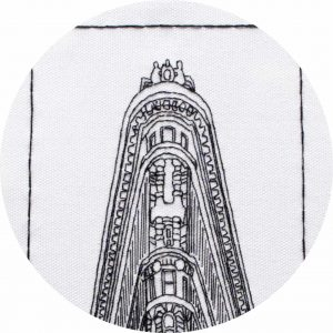 Flatiron, New York - Embroidery Pattern by Charles and Elin, close up