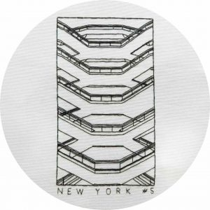 The Vessel, New York City - Hand Embroidery Pattern by Charles and Elin
