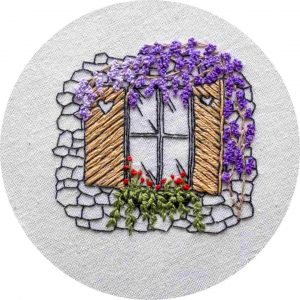 Wisteria Love - Charles and Elin Hand Embroidery Pattern